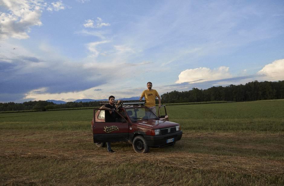 Shooting sul Piave per mostrare la nostra Panda
